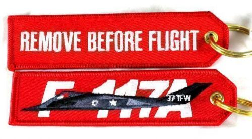 F117A Stealth Bomber Military Jet Remove Before Flight Cloth Key Ring