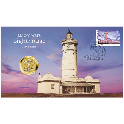 2018 $1 Macquarie Lighthouse 200 Years Bicentenary Stamp & Coin Cover PNC