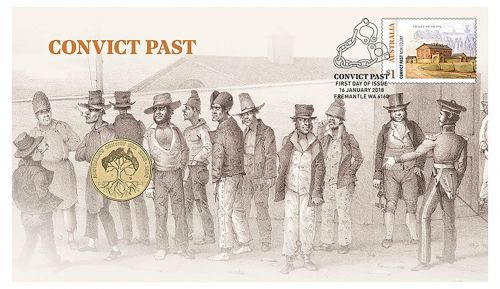 2019 $1 Convict Past Stamp & Coin Cover PNC