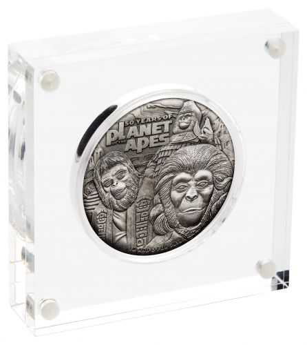 2018 $2 Planet Of The Apes 2oz 99.99% Silver Antique Coin
