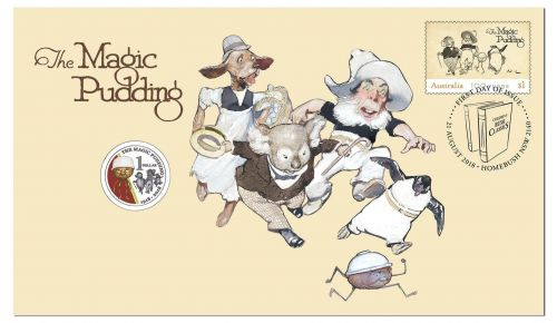2018 $1 The Magic Pudding Stamp & Coin Cover PNC