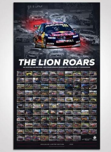 The Lion Roars: 108 Championship Race Wins For Holden VF Commodore Photographic Print Rolled Poster