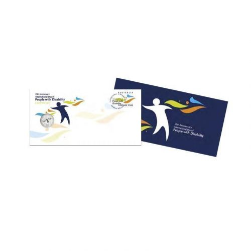 2017 20c 25th Anniversary International Day of People with Disability Coin & Stamp Cover PNC