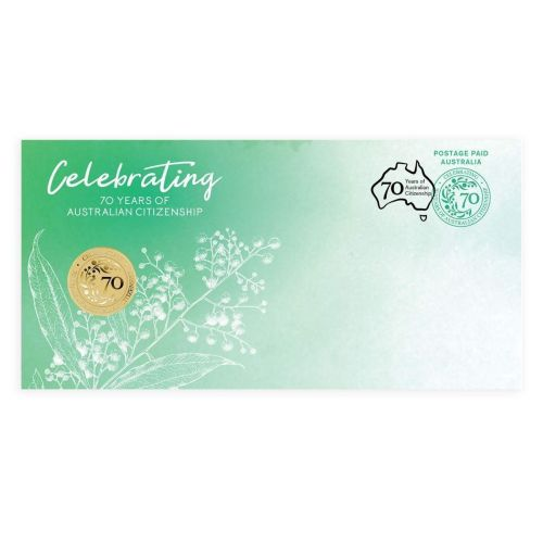 2019 $1 Australian Citizenship 70th Anniversary Stamp & Coin Cover PNC