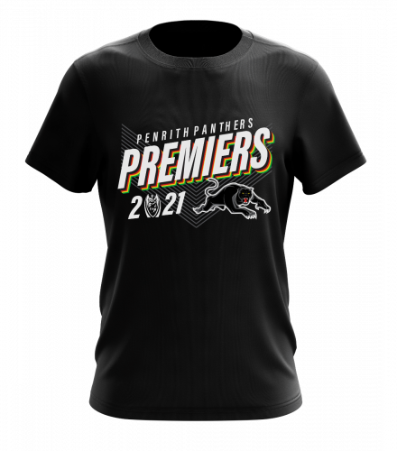 Penrith Panthers 2021 NRL Premiers Kids Youth Tidwell Tee Shirt T-Shirt