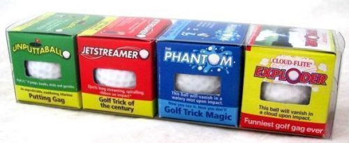 The Awesome Foursome Trick Golf Balls: Sport, Exploding, Round, Fun Joke, Gag, Novelty.