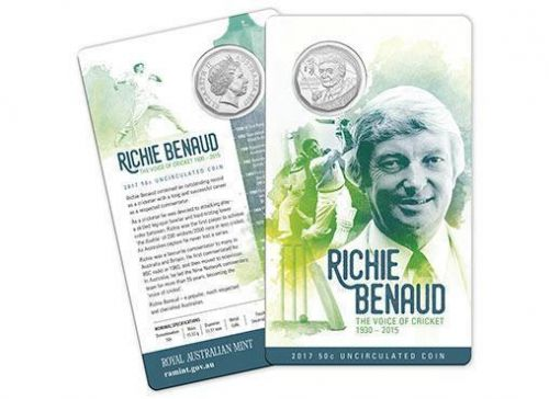 2017 Richie Benaud The Voice of Cricket 1930-2015 50c Uncirculated Coin Royal Australian Mint RAM