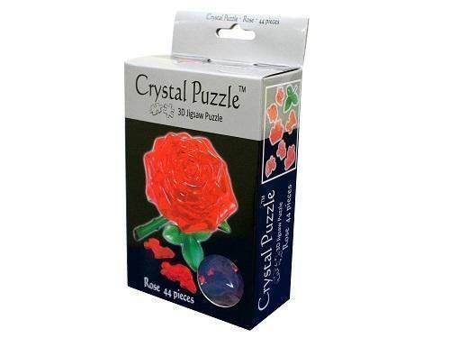 Red Rose 3D Crystal Jigsaw Puzzle 44 Pieces Fun Activity DIY Gift Idea