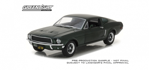 PRE ORDER - 1968 Ford Mustang GT Fastback Highland Green 1:24 Scale Model Car (FULL PRICE $69.99)**
