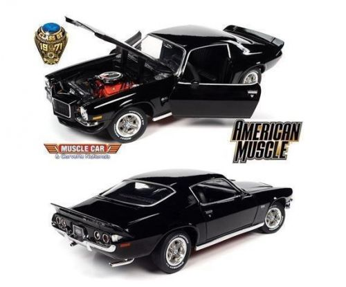 PRE ORDER - 1971 Chevy Camaro Black SS RS MCACN 1:18 Scale Model Car (FULL PRICE $199.99)**