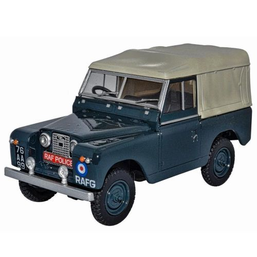 Oxford Military Land Rover Series II SWB Canvas RAF Police 1:43 Scale Model Car