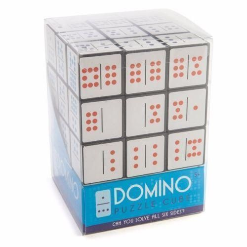 Large Domino Puzzle Cube with 2 Fun Challenges Novelty Gift Idea