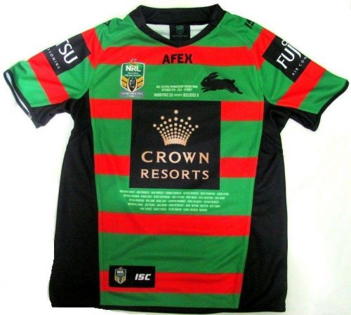 South Sydney Rabbitohs NRL 2014 Premiers Premiership Jersey Collectable Mens Adult