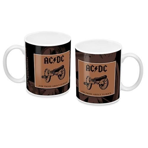 ACDC For Those About to Rock Album Design 330mL Ceramic Coffee Tea Mug Cup