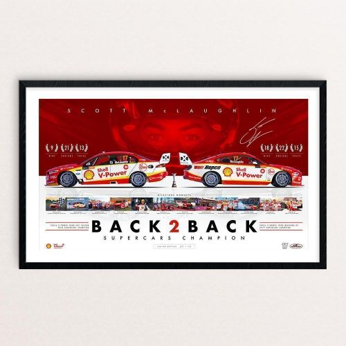 Shell V-Power Racing Team Scott McLaughlin 'Back 2 Back Supercars Champion' Framed and Signed Limited Edition Print #94