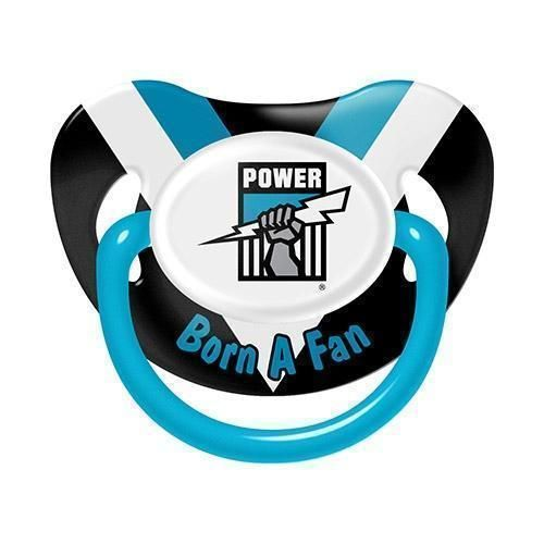 Port Adelaide Power AFL Team Logo Infant Baby Dummy Pacifier +6 Months