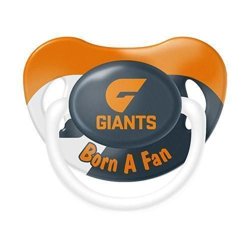 Greater Western Sydney Giants AFL Team Logo Infant Baby Dummy Pacifier +6 Months