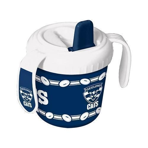 Geelong Cats AFL Team Logo 2 Handle 250ml BPA Free Baby Infant Training Sippy Sipper Cup
