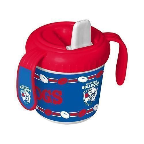 Western Bulldogs AFL Team Logo 2 Handle 250ml BPA Free Baby Infant Training Sippy Sipper Cup