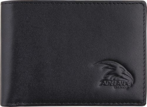 Adelaide Crows AFL Team Logo Black Leather Mens Wallet Boxed Great gift Idea