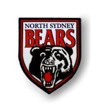 North Sydney Bears NRL Team Heritage Logo Collectable Lapel Hat Tie Pin Badge