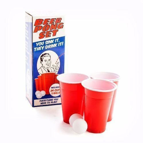 Beer Pong Set Sink It They Drink It Party Drinking Game 24 Cups & 3 Balls
