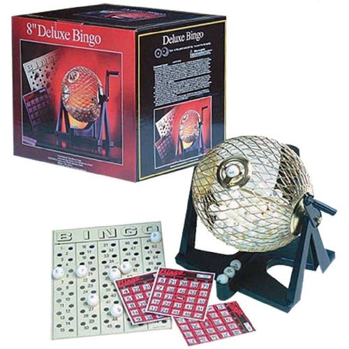 """8"""" Deluxe Bingo Game With Cage Cards and Markers"""