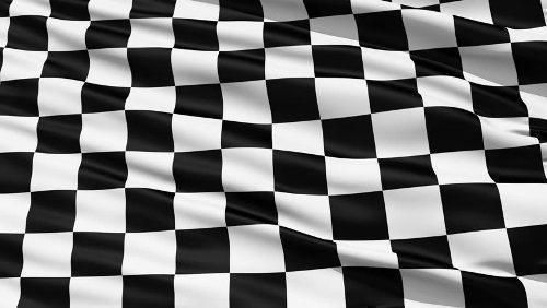Chequered Motor Racing Flag Pole Flag Size