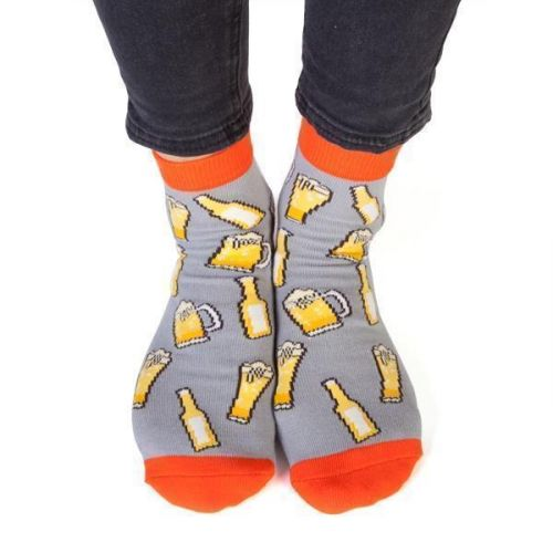 Feet Speaks Bring Beer Coloured Long Socks With Great Soles One Size Fits Most