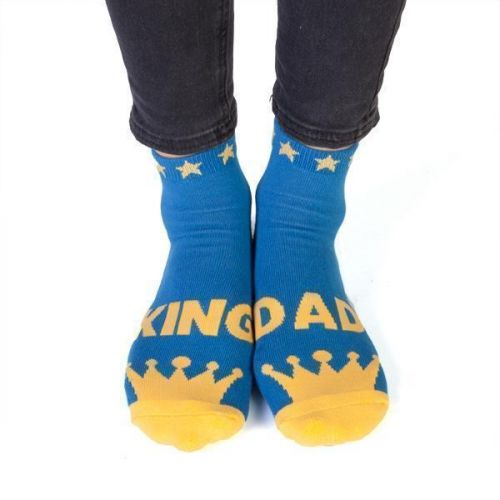 Feet Speaks King Dad Coloured Long Socks With Great Soles One Size Fits Most