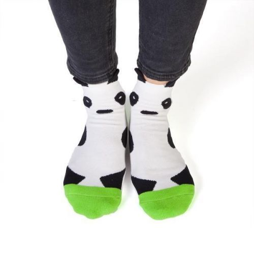 Feet Speaks Panda Nap Time Coloured Long Socks With Great Soles One Size Fits Most