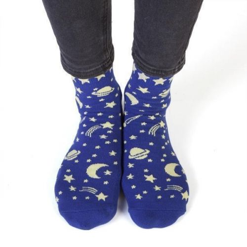 Feet Speaks Space Spaced Out Coloured Long Socks With Great Soles One Size Fits Most