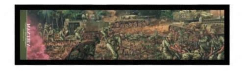 Combined Arms Contact Vietnam 1969 Bar Runner ANZAC Australian Great War Military Collectable