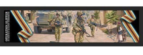 Afghanistan Campaign Artwork Bar Runner ANZAC Australian Great War Military Collectable