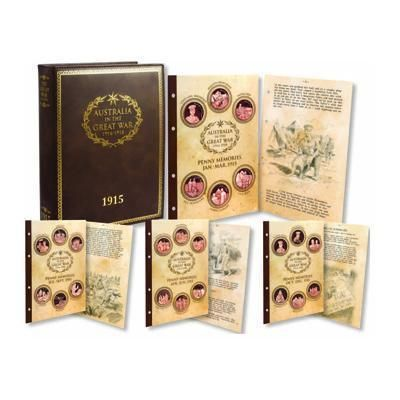 1915 Australia in the Great War Penny Memory Diary Set Including Binder ANZAC War Military