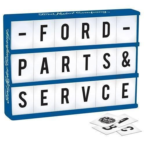 Ford Light Up Box With 85 Letters & Ford Symbols Man Cave Pool Room