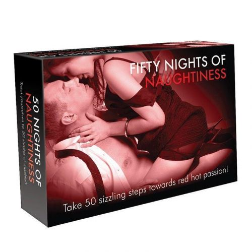 Fifty Nights of Naughtiness Adult Game - 50 Erotic Surprises and Naughty Adventures - Novelty Adults Only