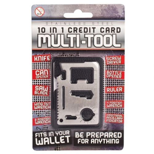 10 In 1 Credit Card Multi-Tool Novelty Handy Tools