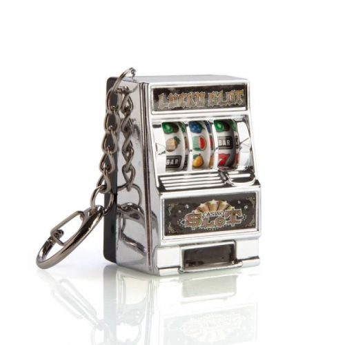 Lucky Slot Pokies Machine Keychain Keyring With Carabiner Clasp