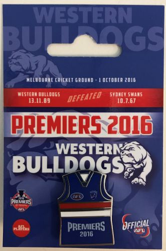 Western Bulldogs 2016 AFL Premiers Team Guernsey Pin
