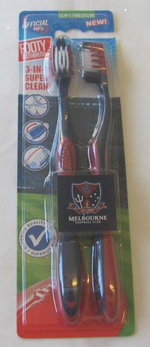 Melbourne Demons Twin Pack AFL Toothbrushes