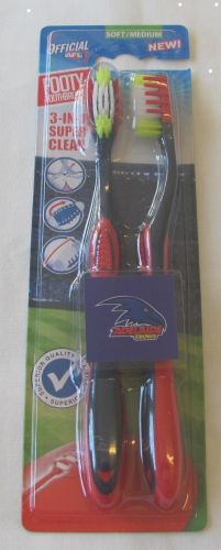 Adelaide Crows Twin Pack AFL Toothbrushes