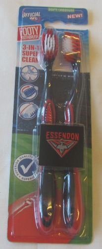 Essendon Bombers Twin Pack AFL Toothbrushes