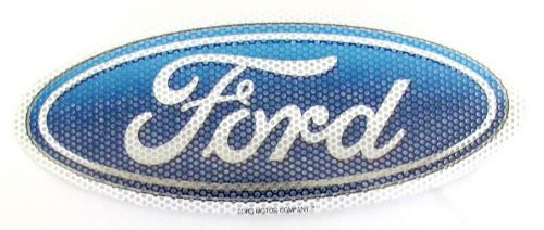 Ford Motor Company Blue Oval Logo Twin Pack See Thru Car Window Sticker Decal