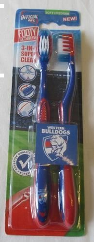 Western Bulldogs Twin Pack AFL Toothbrushes