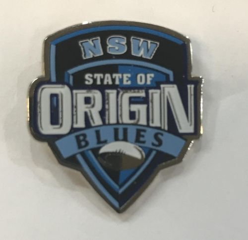 New South Wales Blues State of Origin NRL Team Logo Collectable Lapel Hat Tie Pin Badge NSW SOO