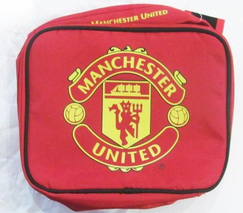 Manchester Man United English Premier League EPL Lunch Cooler Bag School Lunch Box