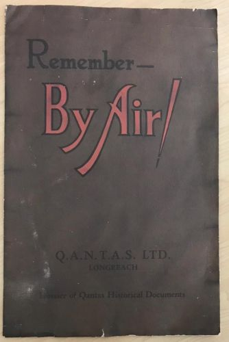 Qantas Original Remember By Air! Dossier of Historical Documents 1970 - 50th Anniversary - The Australian Airline