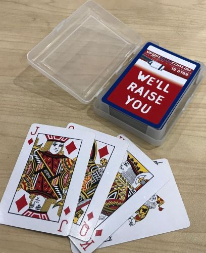 Virgin Blue Airlines Australia Original Set of 52 Playing Cards In Plastic Case 2000s