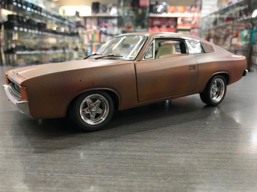 *CUSTOMISED* One Off Custom Model Barn Find - 1972 Charger Green Opal Rusty Rusted Die Cast Model Car 1:18